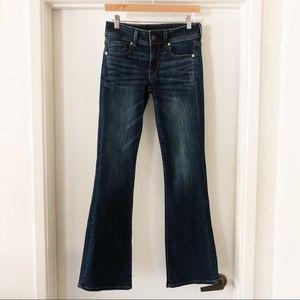 american eagle | super stretch kick boot jeans 4R